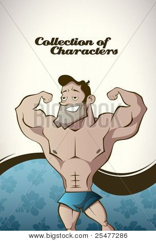 Muscular man background