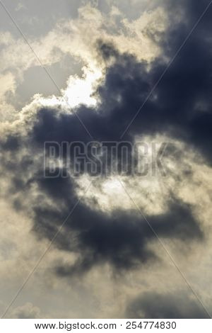 Dramatic Sky With Stormy Clouds. Dark Sky And Dramatic Black Cloud Before Rain. Calcutta India