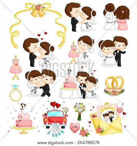 Wedding Vector Set With Many Pose And Content