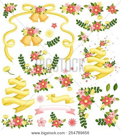 Wedding Flower Vector Set With Many Items