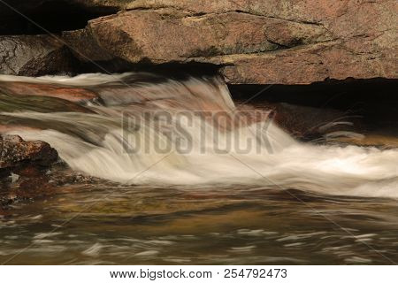 Long Exposure Of A Backyard Waterfall.phu(mountain)- La-o (beautiful) Waterfall