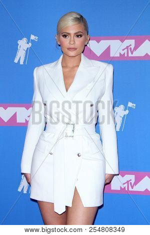 Kylie Jenner at the 2018 MTV Video Music Awards held at the Radio City Music Hall in New York, USA on August 20, 2018.