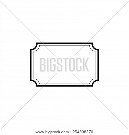 Black Frame Card. Fashion Graphic Background. Modern Stylish Abstract Texture. Monochrome Template F