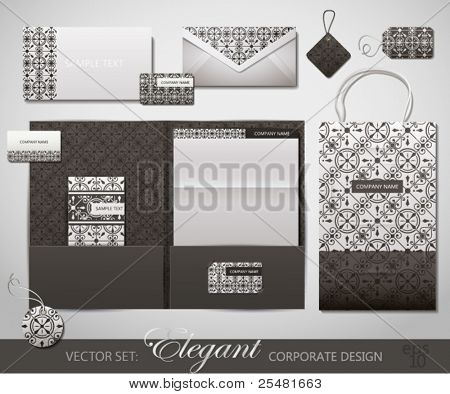 Elegant Corporate Design. Vector Illustration.