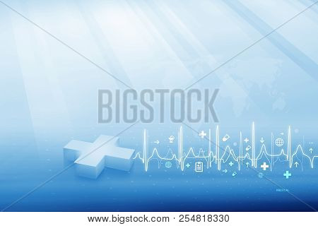 Medical Abstract Background, Health Backdrop, Suitable For Health Care And Medical Topic