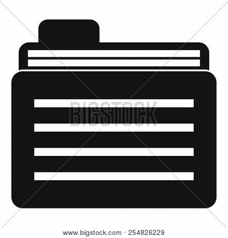 File Folder Icon. Simple Illustration Of File Folder Icon For Web