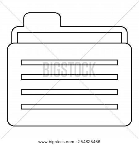 Folder Icon. Outline Illustration Of Folder Icon For Web