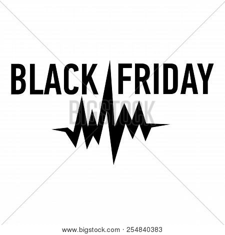 Black Friday Pulse Icon. Simple Illustration Of Black Friday Pulse Icon For Web