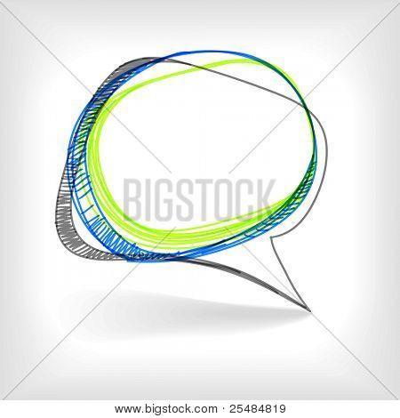 Hintergrund des abstrakten Blase im Gespräch