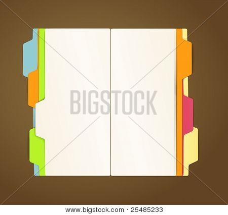 Copy-book vector template