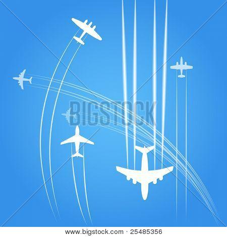 Transport und zivile Flugzeuge Bahnen