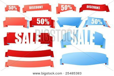 Bilaterial color polygonal origami advertising banners. Place your text here
