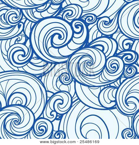 Seamless background of curled abstract clouds
