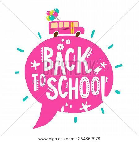 Back School Text Vector Photo Free Trial Bigstock