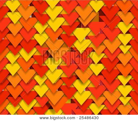 Seamless background of colorful abstract triangle waves