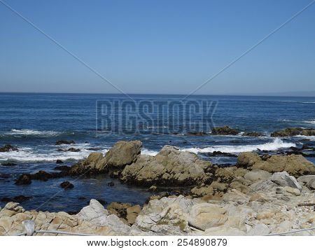 This Is An Image Of Coastal Tide Pools In Pacific Grove, California.