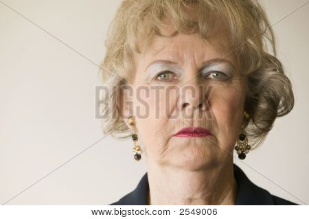 Senior Woman Staring