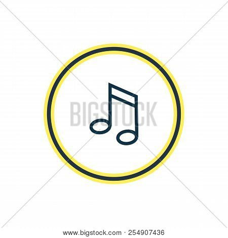 Vector Illustration Of Music Note Icon Line. Beautiful Celebration Element Also Can Be Used As Quave