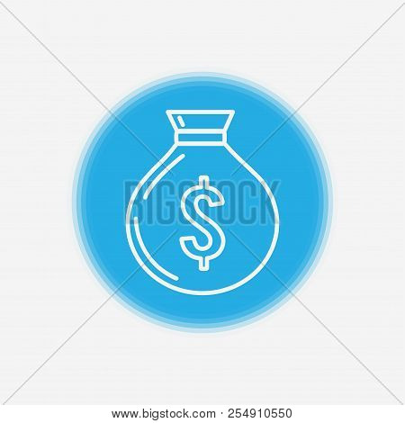 Bank Money Bag Icon. Element Of Wild West Icon For Mobile Concept And Web Apps. Material Style Bank