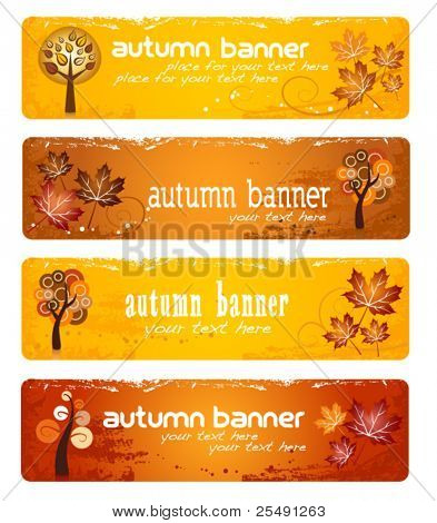 Autumn Colorful Banners