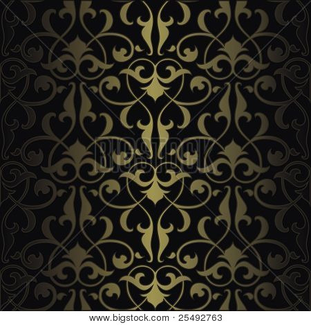 Seamless colorful arabesque background