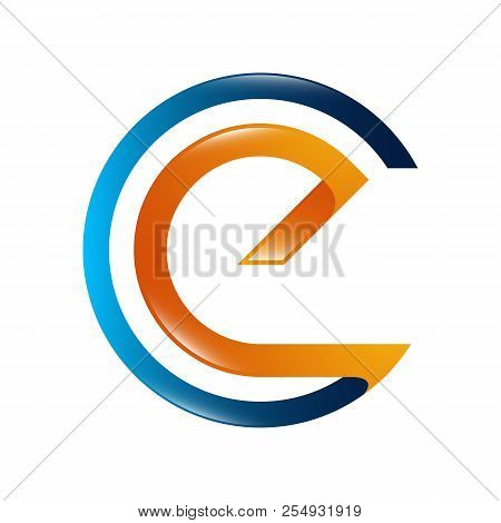 Abstract Letter E Logo Design Template Elements. Abstract Letter E. Business Corporate Letter E Logo