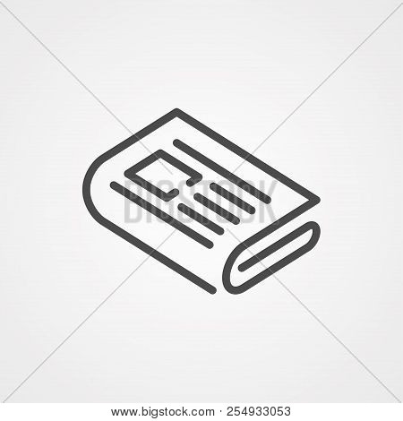 Newspaper Icon. Element Of Web Icons For Mobile Concept And Web Apps. Nolan Style Newspaper Icon Can