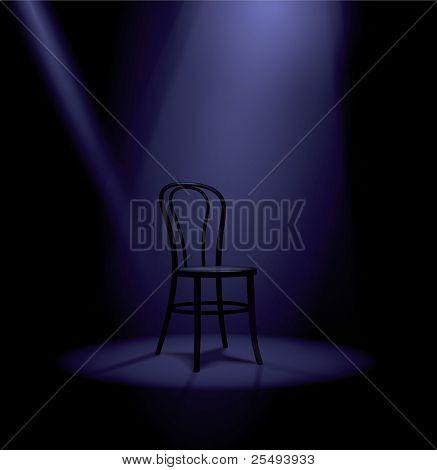 Vector stage in spotlights