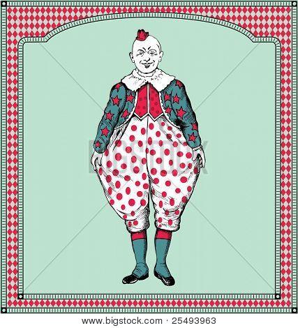 vector hand drawn clown