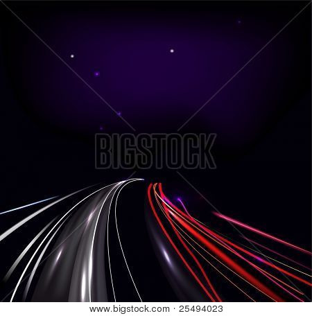 Vector traffic and street lights