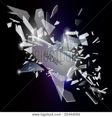 Vector broken  glass design