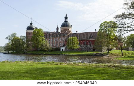 Gripsholm Castle, Sweden On May 11. Outdoor View Of The Castle In Springtime On May 11, 2018 In Mari