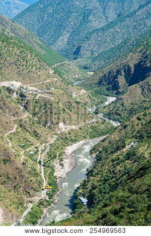 View Of Dangme Chu River Near Trashigang - Eastern Bhutan