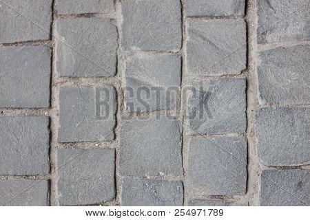 Concrete Bricks Path Walk Way, Stock Photo