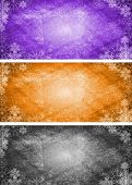 Abstract Xmas banners with snowflakes. Eps 10 vector illustration poster