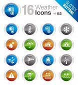Glossy Buttons - Weather icons poster