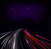 Vector traffic and street lights poster