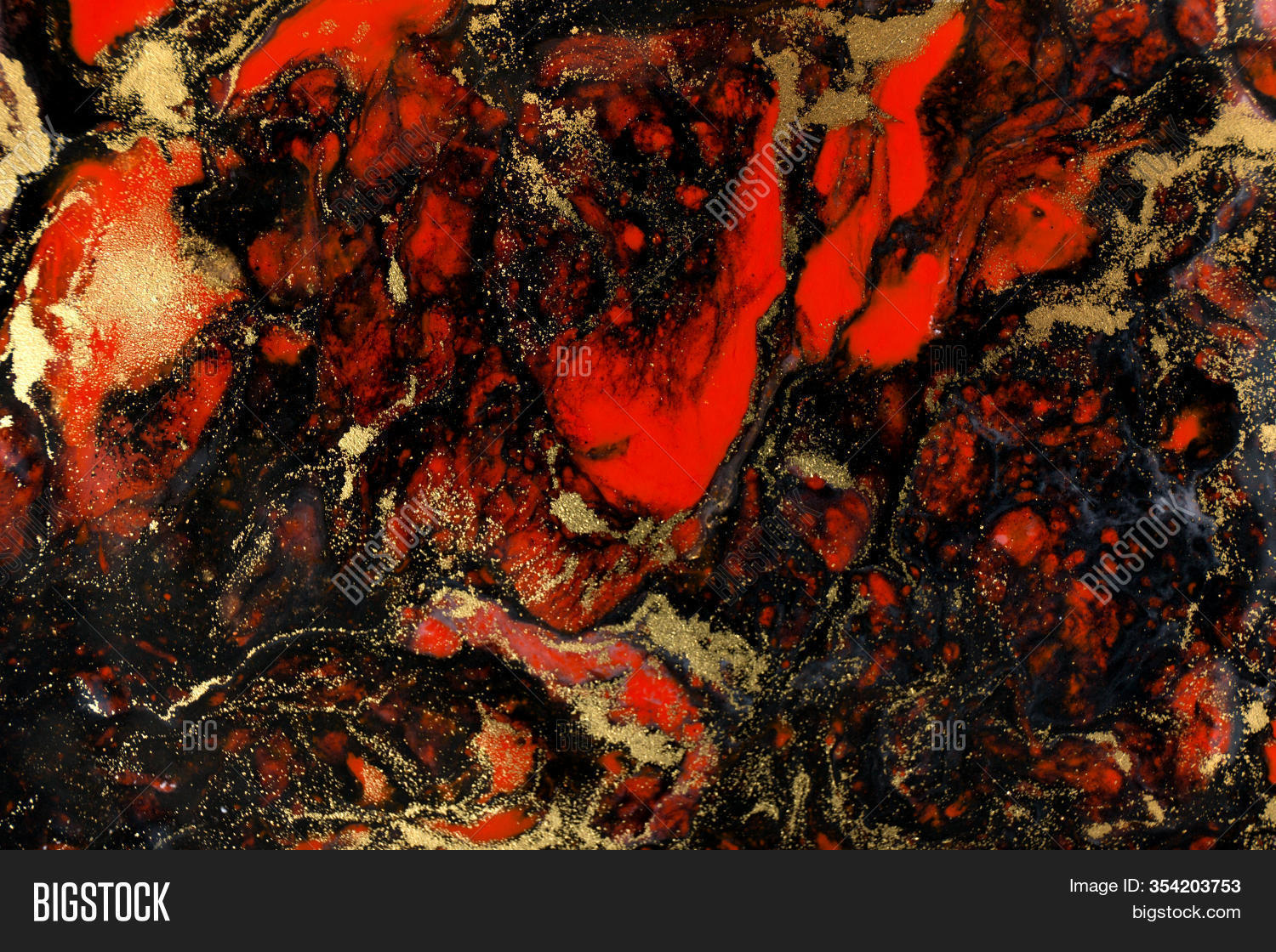 Red Black Gold Paint Image Photo Free Trial Bigstock