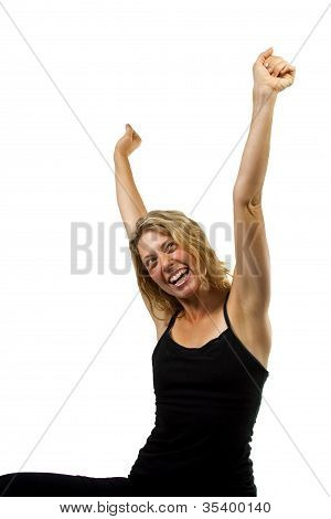 Happy Woman Side