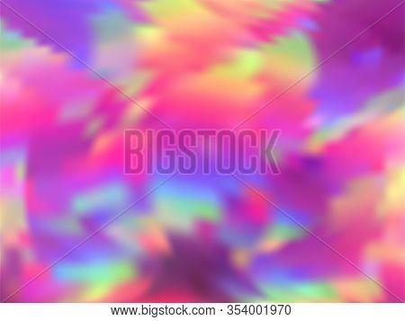 Neon Holographic Paper Fluid Gradient Backdrop. Lucent Rainbow Spectrum Background. Liquid Colors Sp