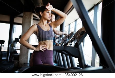 Disappointed Tired Woman Trying To Reach Fitness Goals By Endurance And Stamina Training