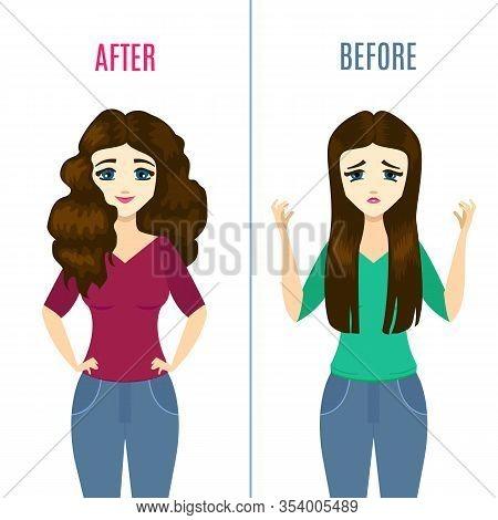Straightening Hair Vector Photo Free Trial Bigstock