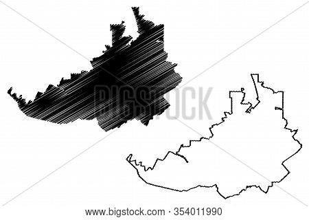 Rostov-on-don City (russian Federation, Russia) Map Vector Illustration, Scribble Sketch City Of Ros