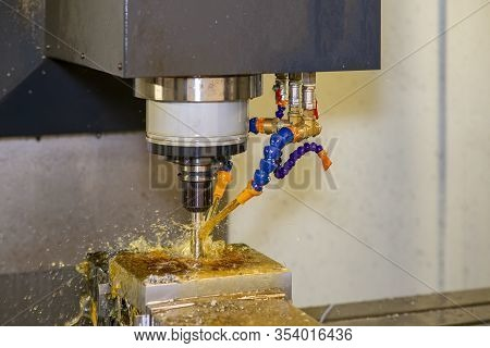 The Operation Of Cnc Milling Machine Cutting The Injection Mold Parts With Solid Ball Endmill Tool A