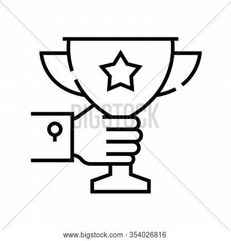 Top Honour Line Icon, Concept Sign, Outline Vector Illustration, Linear Symbol.