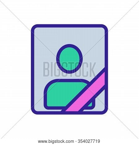 Dead Icon Vector. Thin Line Sign. Isolated Contour Symbol Illustration
