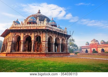 Tomb Of Isa Khan In The Humayuns Tomb Complex In Delhi, India
