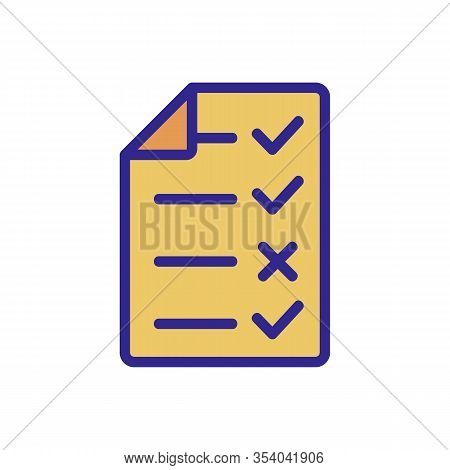 Audit Company Icon Vector. Thin Line Sign. Isolated Contour Symbol Illustration
