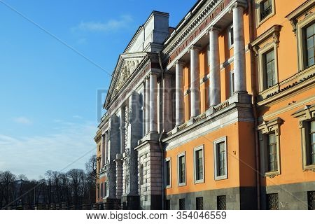 Saint Petersburg, Russia - January 31, 2020: The Mikhailovsky Castle Or Engineering Castle In Saint