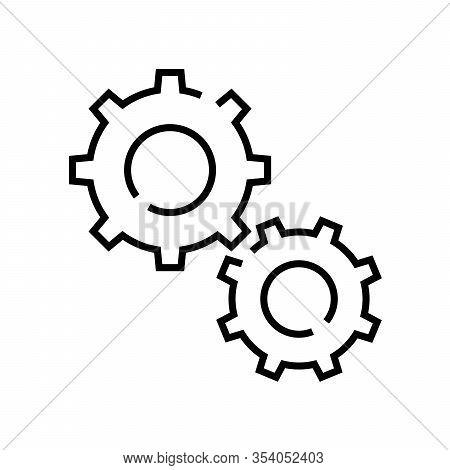 Working Framework Line Icon, Concept Sign, Outline Vector Illustration, Linear Symbol.